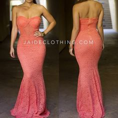 .@Jaide Clothing | Coral Lace. This Dress JUST IN and very Limited. Www.jaideclothing.com | Webstagram ....perfect!