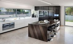 Modern Kitchen With Black Appliances | Kitchen Remodel: 101 Stunning Ideas for Your Kitchen Design