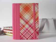 2014 Small Handmade Weekly Planner in Pink by ArteeLuarBookbinding