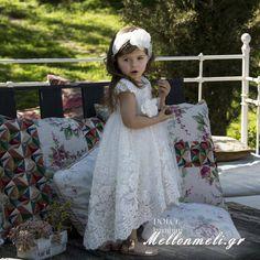 """Βαπτιστικό φόρεμα Dolce Bambini """"Maxine"""" Girls Dresses, Flower Girl Dresses, Wedding Dresses, Fashion, Dresses Of Girls, Bride Dresses, Moda, Bridal Gowns, Fashion Styles"""