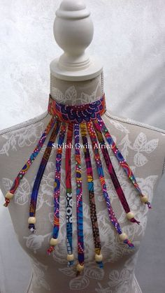 Spectrum Spiral Africanprint Beaded Fabric Necklace - Women's style: Patterns of sustainability