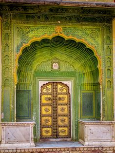 Doorway In City Palace, Jaipur, India