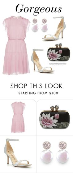"""431"" by meldiana ❤ liked on Polyvore featuring Giambattista Valli, Alexander McQueen, Sam Edelman and ORA Pearls"