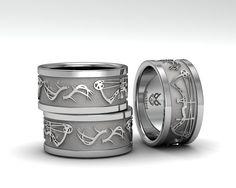 www.duckbandbrand.com Custom Bow & Antler ring