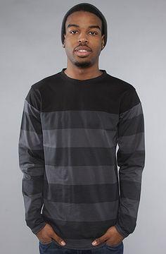 The Big Stripe L/S Top in Black by BLVCK SCVLE #KARMALOOP