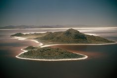 Aerial of the Great Salt Lake in Utah.Photograph by Paul Zahl, National Geographic