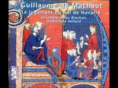 "CD ""Le Jugement du Roi de Navarre"" by Ensemble Gilles Binchois (dir. Dominique Vellard), where Machaut's poetry or 'vers' of ""Le Jugement du Roi de Navarre"" are mixed with a 'chanson roial' and 'virelais' for 1 voice (monophonic), 'ballades' for 2, 3 or 4 voices, 'motets' for 3 or 4 voices, and even his ""Messe de Notre Dame""."