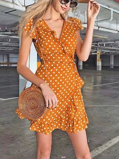 - Deep V Neck Asymmetric Hem Belt Short Sleeve Casual Dresses dresses every occasion dresses casual dresses casual summer dresses casual spring dresses casual modest Spring Dresses Casual, Simple Dresses, Short Dresses, Dresses Dresses, Floral Dresses, Denim Dresses, Linen Dresses, Dress Casual, Polka Dot Mini Dresses