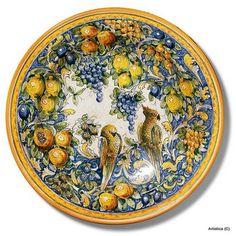 -Artistica - Italian Ceramics, Deruta and Vietri Dinnerware. Hand Painted Ceramics, Porcelain Ceramics, Glazes For Pottery, Ceramic Pottery, Ceramic Plates, Decorative Plates, Italian Tiles, Ceramic Painting, Ceramic Art