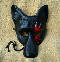 handmade original limited edition leather mask by Merimask Designs Kitsune Mask, Wolf Mask, Cool Masks, Leather Mask, Animal Masks, Sleeve Tattoos For Women, Wolf Tattoos, Trendy Tattoos, Color Tattoo