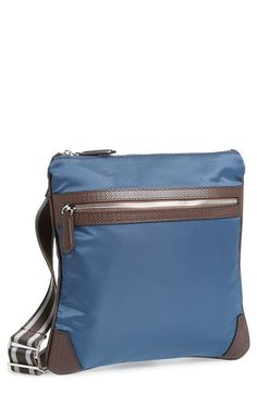 Canali+Nylon+&+Leather+Messenger+Bag+available+at+#Nordstrom