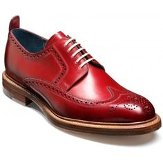 417b1ee05 Barker Mens Bailey Red Brogue Lace-Up Shoe Marshall Shoes