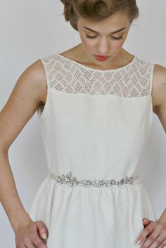 Bridal sash. Vintage style bridal sash by LavenderByJurgita, $92.00