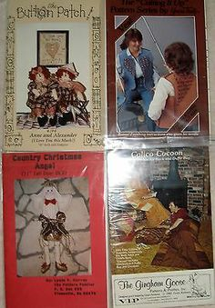 lot of 4 mixed craft sewing pattern cocoon, xmas angel, vest, dolls