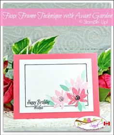 Faux Frame with Avant Garden Sale-a-bration Stamp set from Stampin Up card by Sandi at stampinwithsandi.com