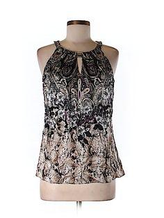 White House Black Market Women Sleeveless Silk Top Size 8