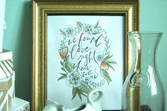 Thinking Out Loud Handdrawn Script Wall Art by TheCreativeTypes