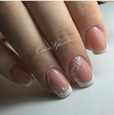 France - Nägel - in 2020 French Nail Designs, Colorful Nail Designs, Toe Nail Designs, Nail Polish Designs, Beautiful Nail Designs, Toe Nails, Pink Nails, Glitter Nails, Gorgeous Nails
