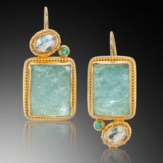 Jack and Elizabeth Gualtieri.....18 and 22k gold, tourmalines, moonstones, chrystal