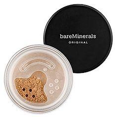Addicted to bareMinerals! I've never gotten so many compliments on my skin/makeup. bareMinerals Original Foundation Broad Spectrum SPF 15 Medium Beige.