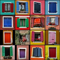 Windows 2007 by Marius!!, via Flickr: all the windows belong to the village of Caorle, in the Venice area