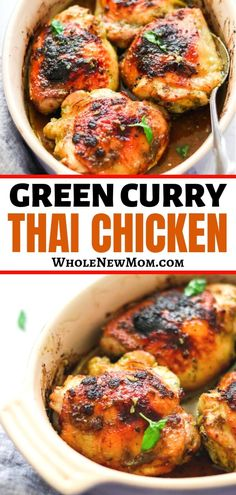 Want To Get Out Of A Dinner Rut? What about These Super Tasty, Crispy Thai Green Curry Chicken Thighs? They're Paleo, And Delicious Enough That Even Leftovers Are Sure To Please Possibly The Best Chicken Thigh Recipe Out There Chicken Thighs Curry Recipe, Best Chicken Thigh Recipe, Chicken Thigh Recipes, Whole 30 Recipes, Whole Food Recipes, Dinner Recipes, Healthy Recipes, Keto Recipes, Paleo Food