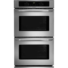 Frigidaire 30 Inch Double Electric Wall Oven with cu. Self-Clean Ovens, Delay Clean Option, Timed Cook Option, Keep Warm Setting, Auto Oven Shut-Off and Star-K Certified: Stainless Steel Gas Double Wall Oven, Gas Wall Oven, Electric Wall Oven, Wall Ovens, Double Ovens, 24 Inch Wall Oven, Single Wall Oven, Frigidaire, Cleaning