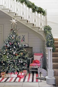 If your tree is a little more sparse than you'd like, simply pad it out with additional foliage.
