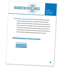 Have you checked out the research on #Reading Development and #Literacy Instruction? ow.ly/zIBsO #LN #edchat