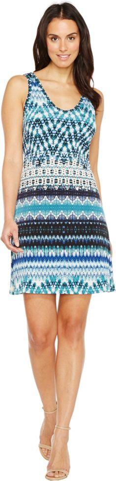 Karen Kane Women's Batik Stripe Brigitte Dress, Print, XL