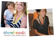 non-toxic, easily washable necklaces for mommies with teething kids