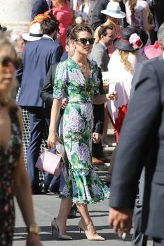 charlotte casiraghi with her new boyfriend dimitri, in rome for a Charlotte Casiraghi Style, Royal Fashion, Fashion Looks, Short Dresses, Summer Dresses, Elsa Peretti, Carolina Herrera, The Dress, Dress To Impress