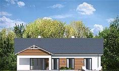 Projekt domu Parterowy 4 122,77 m2 - koszt budowy 218 tys. zł - EXTRADOM Solar Panel Cost, Solar Panels, Bungalow, Civil Construction, Precast Concrete, Modern Farmhouse Exterior, Natural Home Decor, Landscape Design, Townhouse