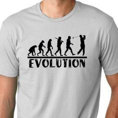Golf Evolution funny T shirt drinking golfer Humor Tee