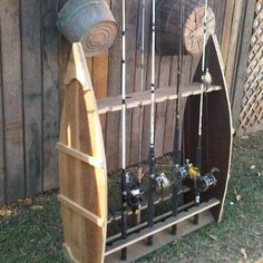 Forgotten South Rod and Reel Holder Barnwood Little Mountain SC Fishing Rod Stand, Fishing Pole Storage, Fishing Pole Holder, Pole Holders, Fishing Tools, Fishing Stuff, Rod Rack, Barn Wood Crafts, Fish Art