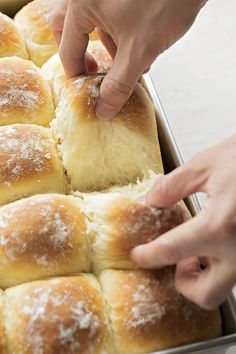 These soft, fluffy tender potato pull-apart rolls are a family favorite. They're perfect for special occasions and are a great way to use up leftover mashed potatoes! Bread Recipes, Cooking Recipes, Skillet Recipes, Cooking Gadgets, Whole Wheat Rolls, Leftover Mashed Potatoes, Cheesy Potatoes, Baked Potatoes, Pizza