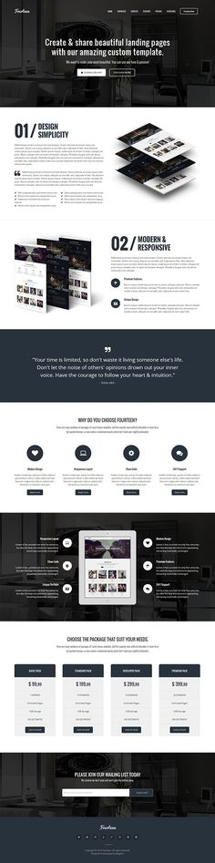 Fourteen – Responsive Landing Page WP Theme on Behance