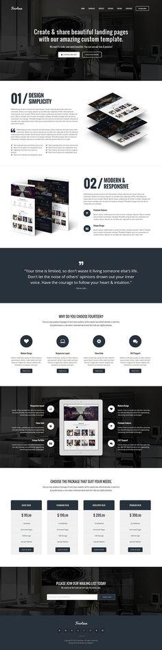 Fourteen – Responsive Landing Page WP Theme on Behance
