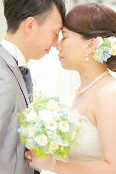 今日、単発の手作りレッスンにいらしてくださったのは 1年前の、花嫁花婿さま。  横浜の小さな結婚式で挙式のブーケ、 恵比寿イーストギャラリーで ...