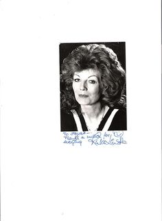 A personal message from Rula Lenska to me ;)