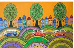 Piluca Soriano. Vamos de excursión. http://pilarsoriano.wordpress.com/mi-galeria/mis-naifs/
