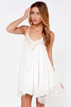 Looks so comfy for Firefly. Sweet Dreams Ivory Lace Dress at LuLus.com!