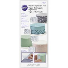 Texture Flexible Imprint Mats 4 ct from Wilton 7721 for sale online Icing Tools, Fondant Tools, Plastic Mat, Butterfly Decorations, Cake Decorating Tools, Decorating Ideas, Baking Supplies, Online Craft Store, Flexibility