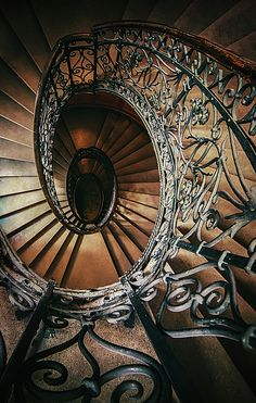 Staircase Photograph - Ornamented Spiral Staircase by Jaroslaw Blaminsky Beautiful Architecture, Beautiful Buildings, Architecture Design, Beautiful Stairs, Grand Staircase, Staircase Design, Escalier Art, Winding Stair, Stairs To Heaven