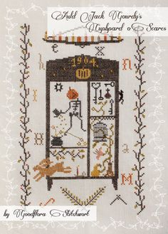 Cross Stitch Pattern ~ Auld Jack Gourdy's Cupboard o' Scares ~ Instant PDF Download