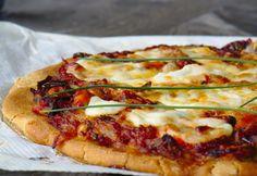 Pizza de mejillones con harina de teff. Gluten free