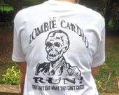 Zombie Cardio T-shirt,Unisex, Zombie Run,Walking Dead,Fear the Dead,Halloween,Zombie Apocalypse,Living Dead,Survival,Horror,Running,Fitness