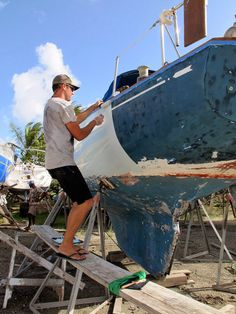 Painting the Hull | Sailboat Painting | Sailboat Restoration | Roll and Tip | verywellsalted.com