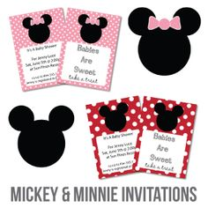 Free mickey mouse baby shower invitations clipart minnie mouse free printable baby shower invitations minnie mouse and mickey mouse invitations filmwisefo