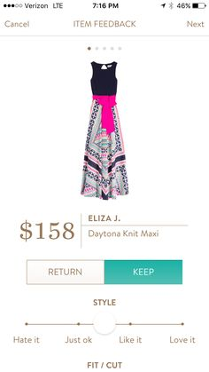 Eliza j maxi. I love Stitch Fix! A personalized styling service and it's amazing!! Simply fill out a style profile with sizing and preferences. Then your very own stylist selects 5 pieces to send to you to try out at home. Keep what you love and return what you don't. Only a $20 fee which is also applied to anything you keep. Plus, if you keep all 5 pieces you get 25% off! Free shipping both ways. Schedule your first fix using the link below! #stitchfix @stitchfix. Stitchfix Spring 2016. Sti...